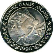 Greece 5 Euro 1996 Olympics 1996 Proof OLYMPIC GAMES ATLANTA 1996 coin reverse