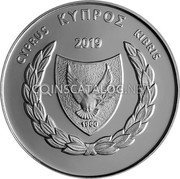 Cyprus 5 Euro (30th Anniversary of the University of Cyprus) ΚΥΠΡΟΣ CYPRUS KIBRIS 2019 1960 coin obverse