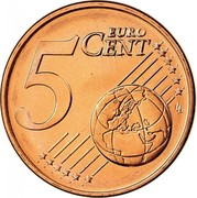 Greece 5 Euro Cent 2008 KM# 183 Euro Coinage 5 EURO CENT LL coin reverse