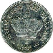 Greece 5 Lepta 1895 A KM# 58 Kingdom ΒΑΣΙΛΕΙΟΝ ΤΗΣ ΕΛΛΑΔΟΣ 1895 A coin obverse