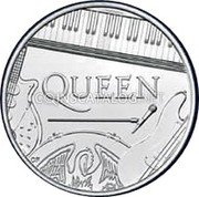 UK 5 Pounds (Music Legends - Queen) QUEEN CF coin reverse