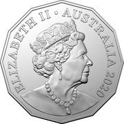 Australia 50 Cents 50th Anniversary of the Indian Pacific 2020 ELIZABETH II • AUSTRALIA 2020 JC coin obverse