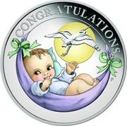 Australia 50 Cents (6th Portrait - Newborn) CONGRATULATIONS P coin reverse