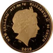 New Zealand 50 Cents (Victoria Quarter Sovereign) NEW ZEALAND .917 AU 2 G ELIZABETH II 50 CENTS IRB 2019 coin obverse
