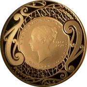 New Zealand 50 Cents (Victoria Quarter Sovereign) VICTORIA REGINA 1819 1901 QUARTER SOVEREIGN coin reverse