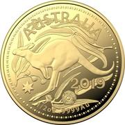 Australia 50 Dollars 4th Portrait - Kangaroo 2019  AUSTRALIA 2019 1/2 OZ .9999 AU coin reverse