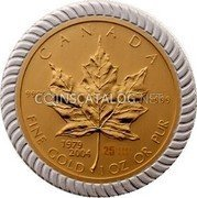 Canada 50 Dollars (An Era of Triumph 25th Anniversary) CANADA FINE Gold 1 OZ OR PUR 1979 2004 25 9999 9999 coin reverse