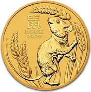 Australia 50 Dollars Year of the Mouse 2020 P MOUSE 2020 P coin reverse