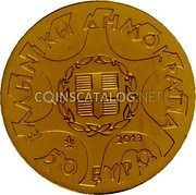 Greece 50 Euro 2013 Proof KM# 256 Euro Coinage coin obverse