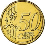 Greece 50 Euro Cent Eleftherios Venizelos 2008 KM# 213 50 EURO CENT coin reverse