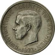 Greece 50 Lepta 1973 KM# 97.2 Kingdom ΚΩΝΣΤΑΝΤΙΝΟΣ ΒΑΣΙΛΕΥΣ ΤΩΝ ΕΛΛΗΝΩΝ coin obverse