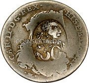 Greece 50 Paras (1814) KM# 22.1 Countermarked Coinage coin obverse