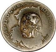Greece 50 Paras (1814) KM# 22.1 Countermarked Coinage CAR·II·D·G·REX· ·HISP·ET·NEAP· 50 coin obverse