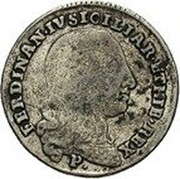 Greece 50 Paras George III (1814) KM# 22.2 FERDINAN IV SICILIAR ET HIE REX P coin obverse
