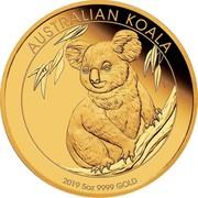 Australia 500 Dollars 6th Portrait - Koala 2019 P Proof AUSTRALIAN KOALA P 2019 5OZ 9999 GOLD coin reverse