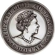 Australia 60 Dollars Kookaburra 2020 ELIZABETH II AUSTRALIA JC ∙ 60 DOLLARS ∙ coin obverse