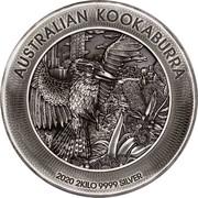 Australia 60 Dollars Kookaburra 2020 AUSTRALIAN KOOKABURRA P 2020 2KILO 9999 SILVER coin reverse