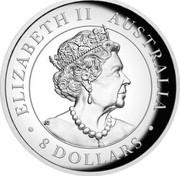 Australia 8 Dollars Kookaburra 2019 ELIZABETH II AUSTRALIA 8 DOLLARS coin obverse
