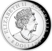 Australia 8 Dollars Wedge-tailed Eagle 2019 ELIZABETH II AUSTRALIA 8 DOLLARS coin obverse