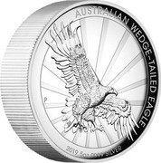 Australia 8 Dollars Wedge-tailed Eagle 2019 AUSTRALIAN WEDGE-TAILED EAGLE 2019 5 OZ 9999 SILVER coin reverse