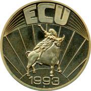 Luxembourg ECU 1993 UNC Standard Coinage ECU 1993 coin reverse
