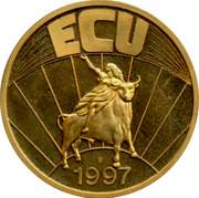 Luxembourg ECU 1997 UNC Standard Coinage ECU 1997 coin reverse