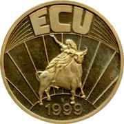 Luxembourg ECU 1999 UNC Standard Coinage ECU 1999 coin reverse