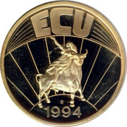 Ireland ECU Eire 1994 UNC ECU 1994 coin reverse