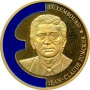 Luxembourg ECU Jean-Claude Juncker 1998 JEAN-CLAUDE JUNCKER LUXEMBOURG coin obverse