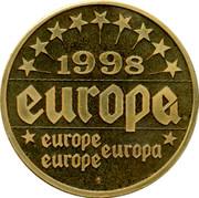 Luxembourg ECU Jean-Claude Juncker 1998 EUROPA EUROPE 1998 coin reverse
