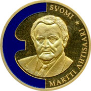 Finland ECU Martti Antisaari 1998 SYOMI MARTTI ANTISAARI ★ coin obverse
