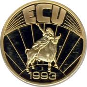 Ireland ECU Patricius 1993 UNC ECU 1993 coin reverse