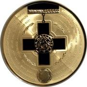 Australia Five Dollars Australian Bravery Medal 2015 UNC LEON GOLDSWORTHY GEORGE GROSSE BENJAMIN HARDY ROBERT KAVANAUGH STANLEY GIBBS MICHAEL PRATT RICHARD RICHARDS ERIC BAILEY JOHN MOULD ERROL EMMANUEL PATRICK TAYLOR HORACE MADDEN HUGH SYME ARTHUR BAGOT JOHNATHON ROGERS JACK CHALMERS GEORGE TAYLOR RAYMOND DONOGHUE LIONEL MATTHEWS WILLIAM MCALONEY RALPH JONES ELIZABETH II AUSTRALIA 2015 coin obverse