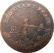 Ireland Halfpenny Dublin - God grant Peace ND (1795)  GOD GRANT PEACE coin obverse