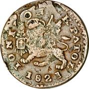 Greece Lepton Britannia 1821 KM# 30 ΙΟΝΙΚΟΝ ΚΡΑΤΟΣ 1821 coin obverse