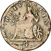 Greece Lepton Britannia 1821 KM# 30 4 BRITANNIA coin reverse