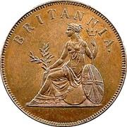 Greece Obol Britannia 1819 . KM# 32 BRITANNIA coin reverse