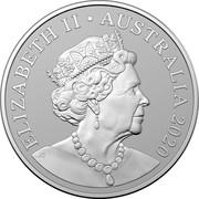 Australia One Dollar Berlin Show Brandenburg Gate - World Money Fair 2020 ELIZABETH II AUSTRALIA 2020 JC coin obverse