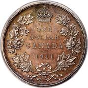 Canada One Dollar George V Specimen Pattern 1911 KM# Pn15 ONE DOLLAR CANADA 1911 coin reverse