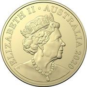 Australia One Dollar QANTAS Centenary 2020 ELIZABETH II • AUSTRALIA 2020 coin obverse