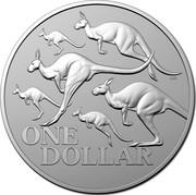 Australia One Dollar Red Kangaroo 2020 Proof ONE DOLLAR coin reverse