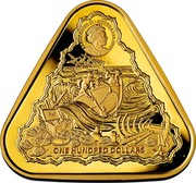 Australia One Hundred Dollars Vergulude Draeck 2020 ONE HUNDRED DOLLARS ELIZABETH II AUSTRALIA 2020 coin obverse