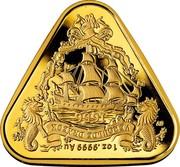 Australia One Hundred Dollars Vergulude Draeck 2020 VERGULDE DRAECK 1656 1 OZ .9999 AU coin reverse