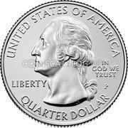 USA Quarter Dollar (Weir Farm National Historic Site - Connecticut) UNITED STATES OF AMERICA IN GOD WE TRUST LIBERTY P JF WC QUARTER DOLLAR coin obverse