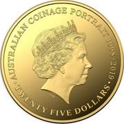 Australia Twenty Five Dollars 6th Portrait - Australian Coinage Portrait 1998-2019 2019 Proof AUSTRALIAN COINAGE PORTAIT 1998-2019 IRB • TWENTY FIVE DOLLARS • coin reverse