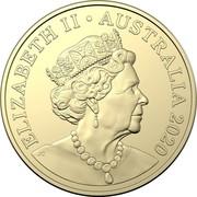 Australia Two Dollars (75 years - End of second World War) ELIZABETH II AUSTRALIA 2020 coin obverse