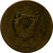 Ireland 1/2 Penny 1820 Republic 1820 coin reverse