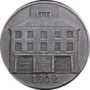 Ireland 1/2 Penny Dublin - Pantheon 1802  1802 coin obverse