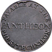 Ireland 1/2 Penny Dublin - Pantheon 1802  PAYABLE AT THE PANTHEON PHUSITECHNIKON coin reverse