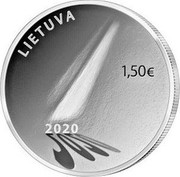 Lithuania 1,50 € Hope 2020 LIETUVA 1,50 € 2020 coin reverse